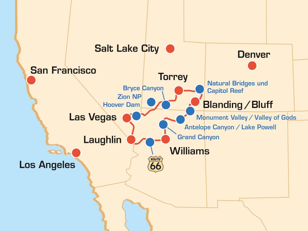 Sudwesten Nationalparks Usa Motorradtour Durch Den Sudwesten